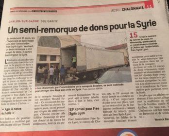 رئيس اتحاد الجالية المغربية بفرنسا ابن سيدي بوعثمان بالرحامنة و اللمسة الإنسانية بسوريا.